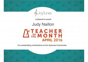teacher of the month April 2016