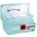 Artist Essential 12-inch Plastic Art Supply Craft Storage Tool Box