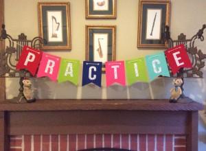 practice banner