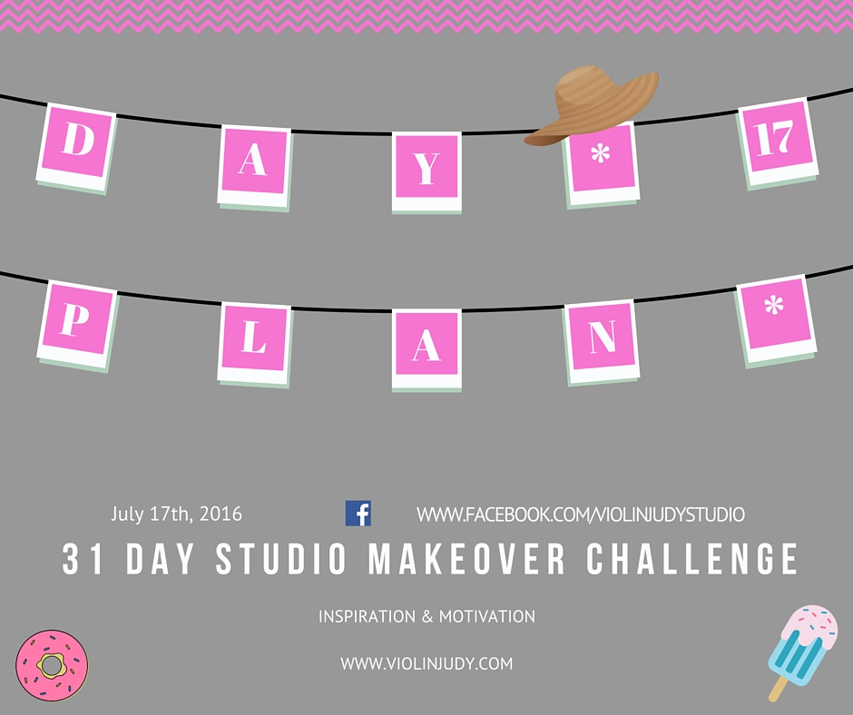 31 day studio makeover challenge