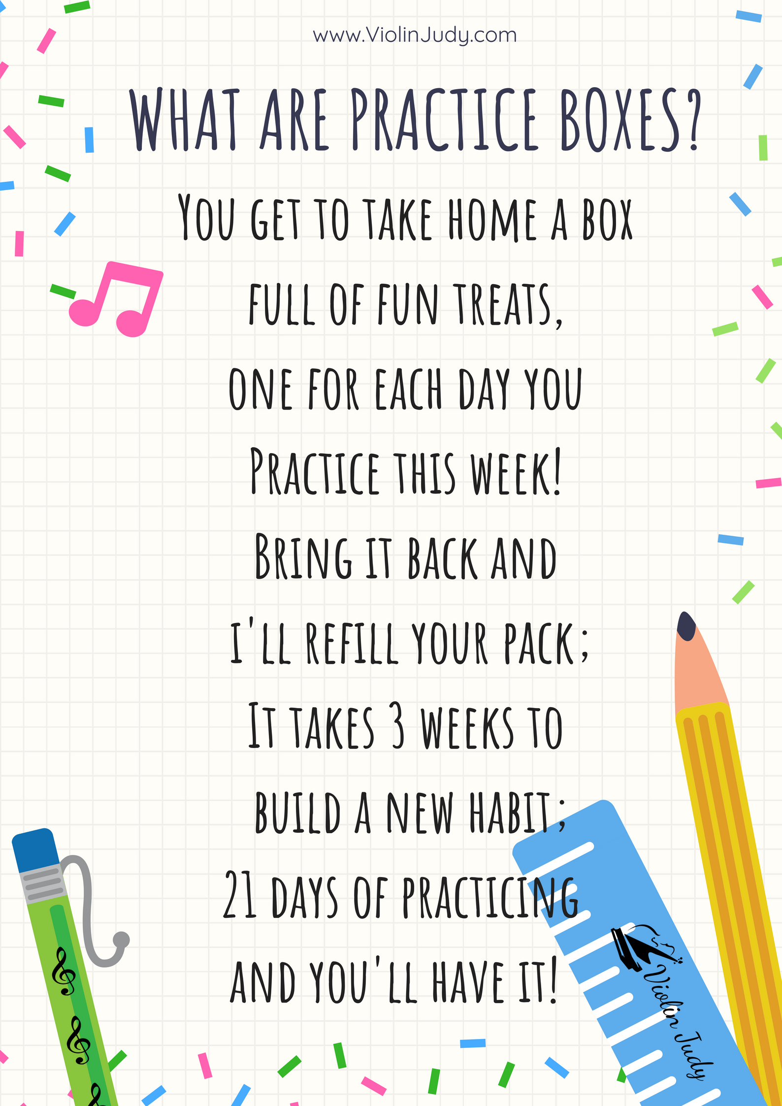 Practice Boxes: A fun treat for your students! - ViolinJudy