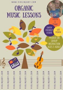 organic music lesson sposter